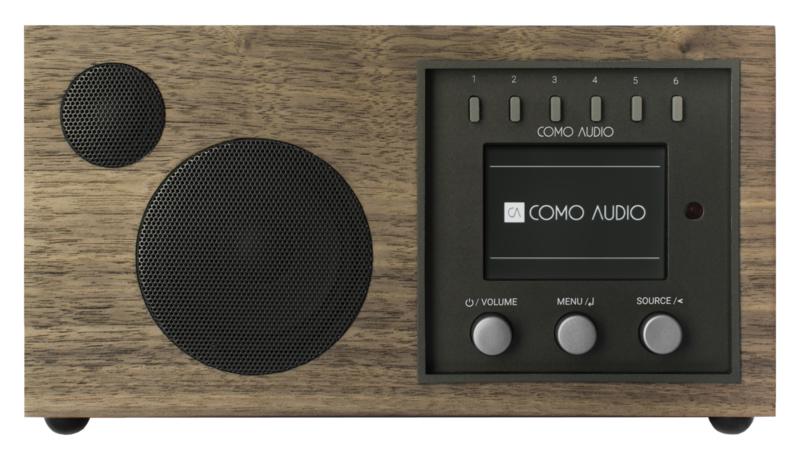 Como Audio Solo radio met wifi internet, DAB+, Spotify en Multi room, Walnut