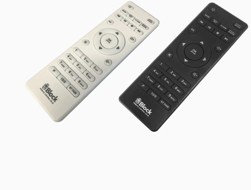 Block ABC afstandsbediening, wit of zwart