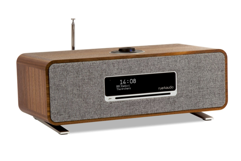 Ruark Audio R3 compact radio systeem, rich walnut