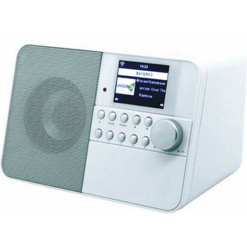 Soundmaster IR6000 SW Internet radio met wekker en weersverwachting, wit