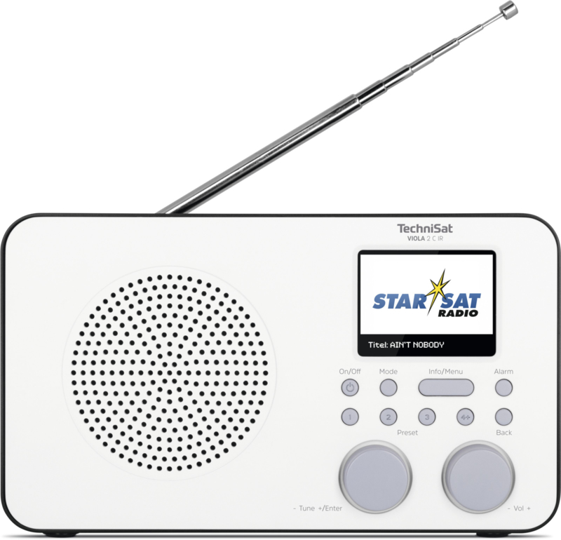 TechniSat Viola 2C IR digitale portable oplaadbare radio met DAB+, FM en internet