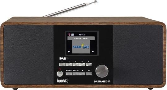 Imperial DABMAN i200 stereo hybride internetradio met Spotify, DAB+ en FM, walnoot
