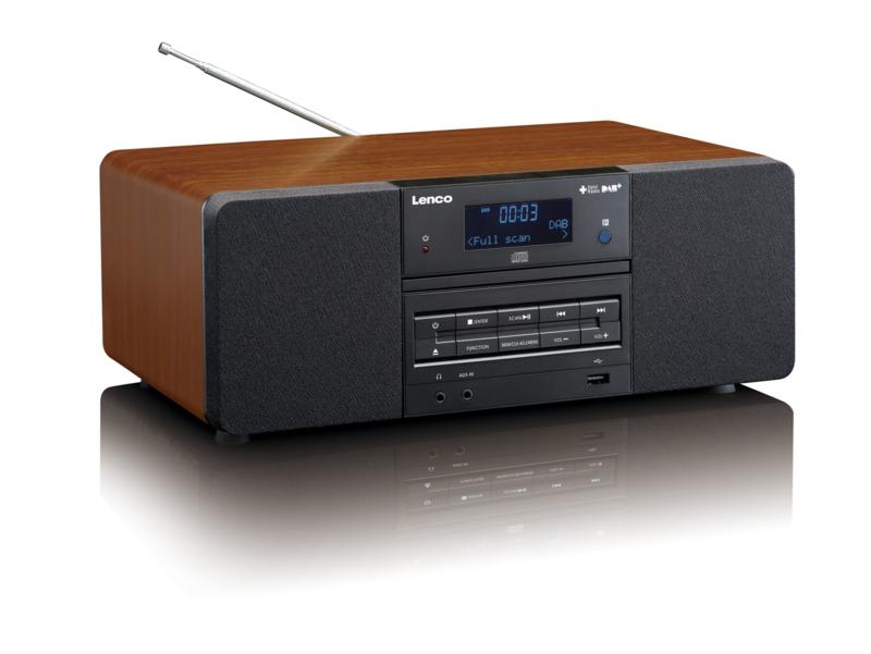 Beste Lenco DAR-050 stereo DAB+ en FM radio met CD / USB / MP3 speler RW-93