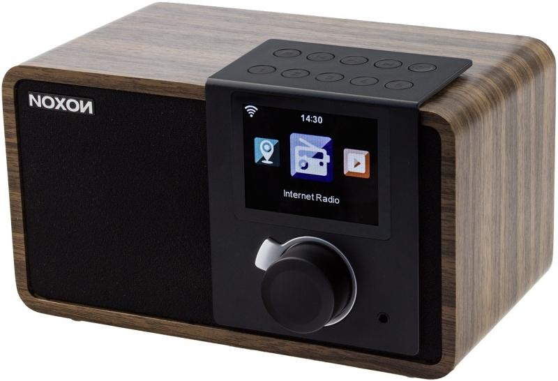 Noxon iRadio 1 internetradio met preset knoppen, walnoot