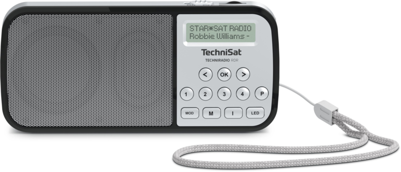 TechniSat TechniRadio RDR DAB+ en FM radio, audio afspelen via USB en analoge ingang, zilver