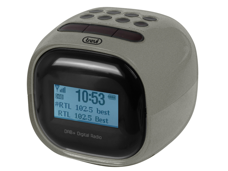 Trevi RC 80D2 wekker radio met DAB+ en FM, grijs