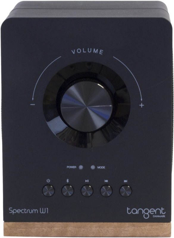 Tangent Spectrum W1 Google Cast draadloze stereo speaker met Bluetooth en analoge ingang, zwart