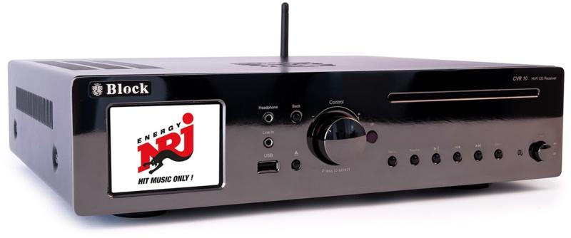 Block CVR-10 MK2 CD Internet Receiver, all-in-one, Chrome