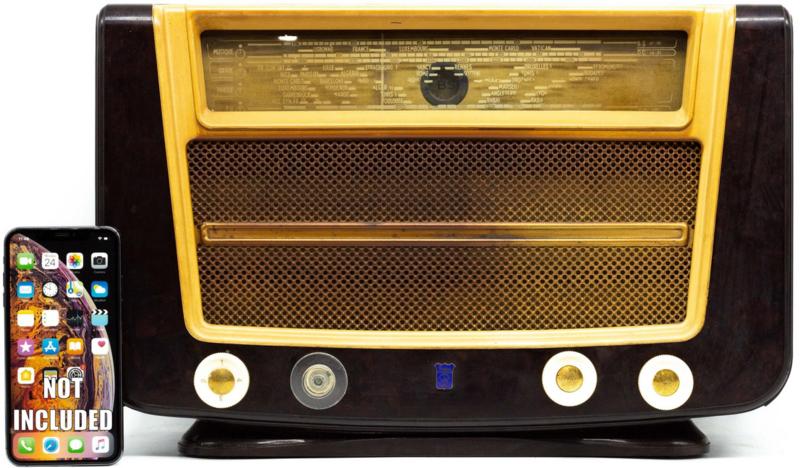 A.bsolument Nr. 833 - Echte Vintage Radio met Bluetooth en audio ingang