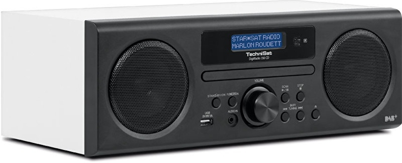 TechniSat DigitRadio 350 CD radio met DAB+, FM, CD en USB, wit