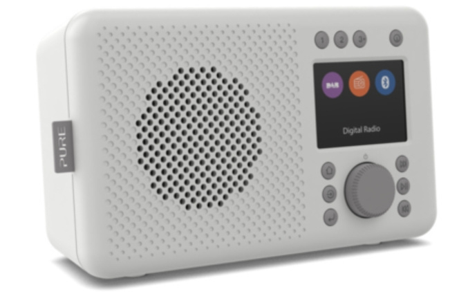 Pure Elan DAB+ en FM portable radio met Bluetooth, Stone Grey