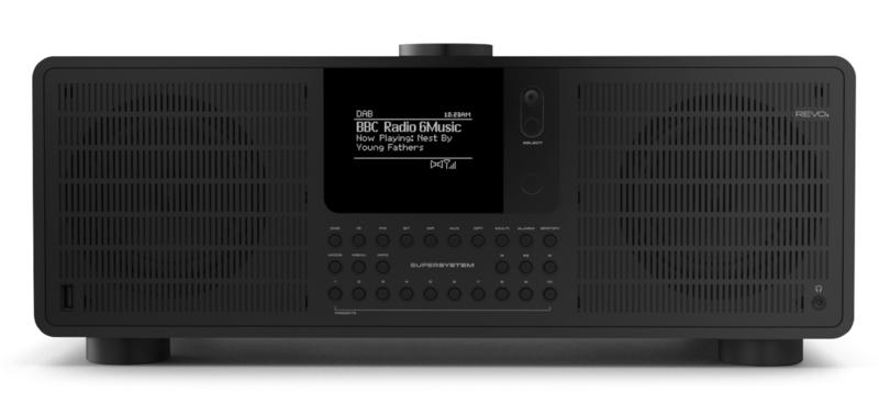 Revo SuperSystem stereo internetradio met Bluetooth, Spotify, USB en DAB+, Shadow Edition