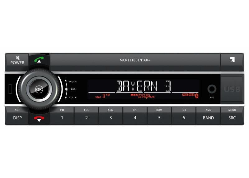 Kienzle MCR1118DAB+ 12 volt DAB+ autoradio met USB, analoge input en Bluetooth