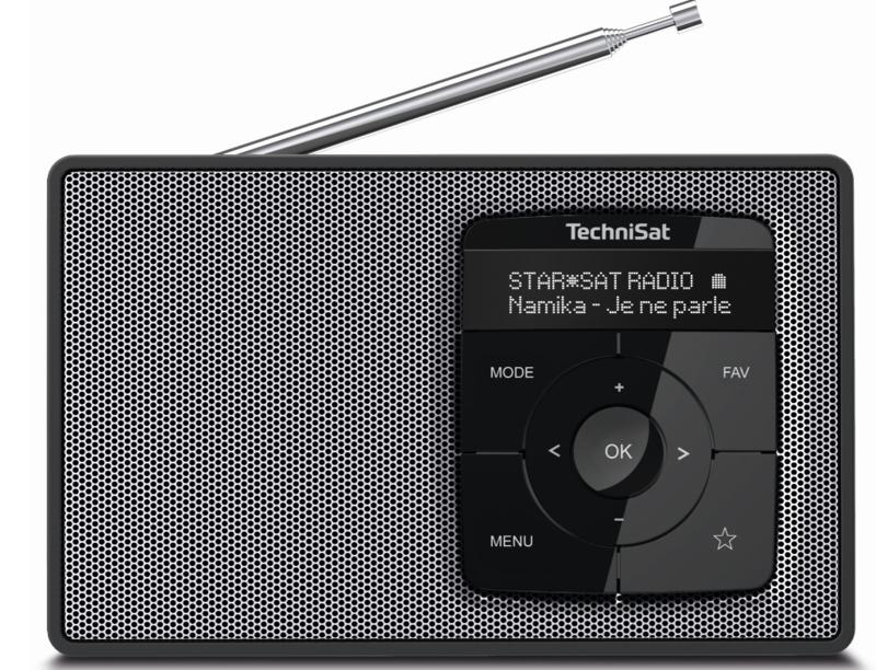 TechniSat DIGITRADIO 2 draagbare DAB+/FM radio met Bluetooth audio streaming