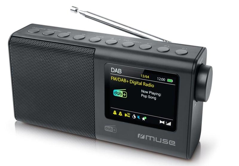 Muse M-117 DB draagbare radio met FM en DAB+