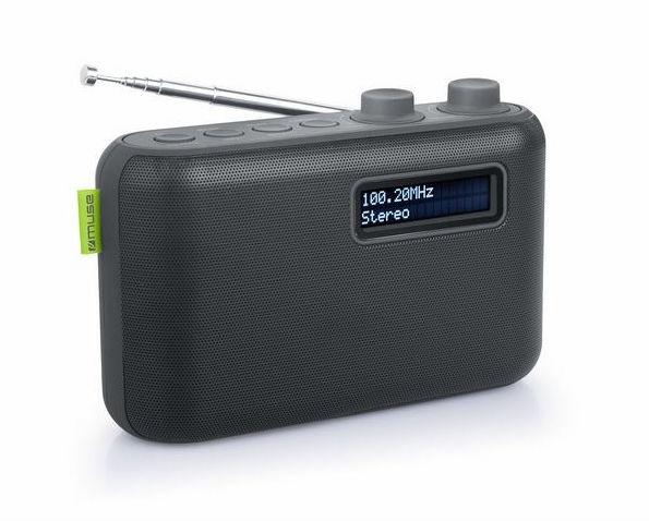 Muse M-108 DB compacte DAB+ radio met FM, zwart