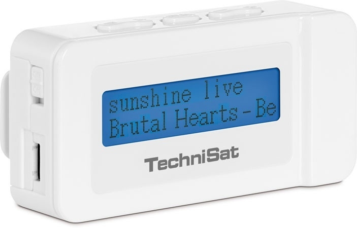 TechniSat DAB+ DigitRadio Go compacte zakradio met FM, wit