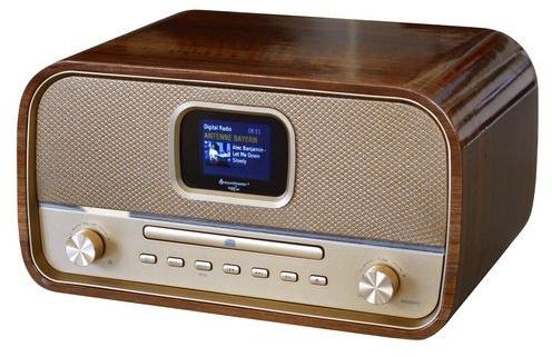 Soundmaster DAB970BR GOLD stereo retro DAB+ en FM radio met CD, Bluetooth en USB