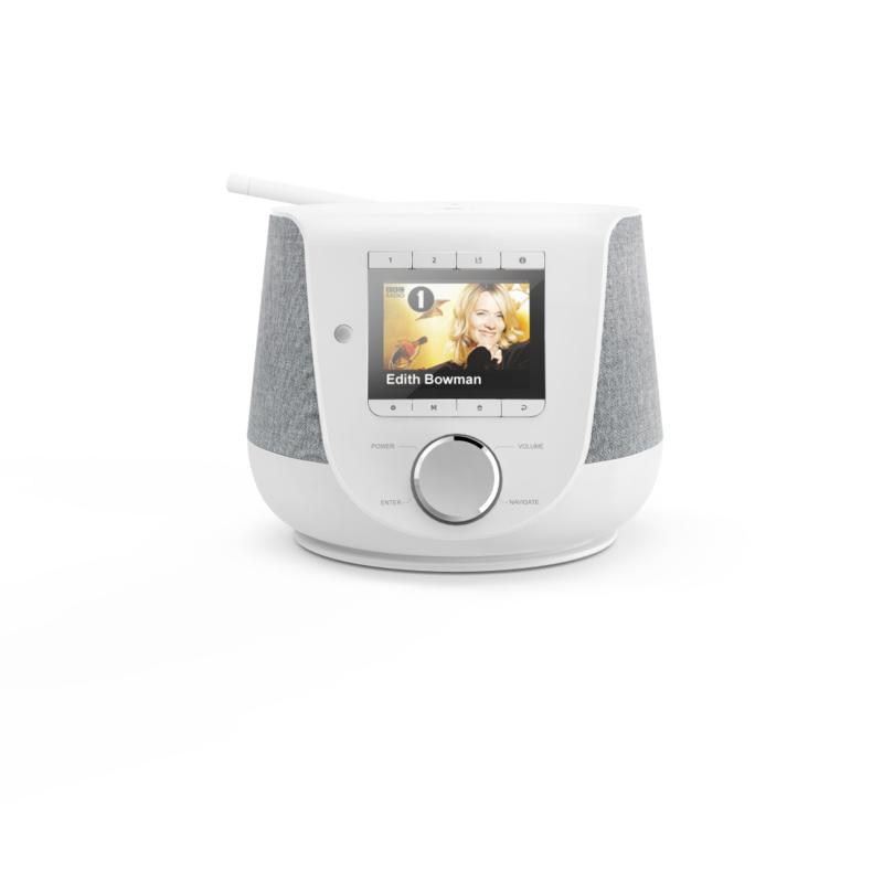 Hama DIR3200SBT stereo hybride digital radio met internet, DAB+, FM en Bluetooth, wit