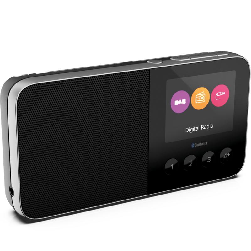 Pure Move T4 oplaadbare zakformaat radio met DAB+, FM en Bluetooth, zwart