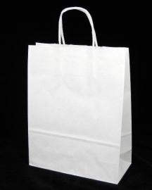 Paper Toptwist formaat 35x14x41cm, wit effen, verpakt per 250 stuks.
