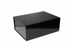 Magneetdoos glans gelamineerd, 33x22x10cm, verpakt per 25 stuks, zwart.