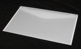 Luxe Gift Envelopes large 34x24cm, WHITE FROSTED, verpakt per 100 stuks.