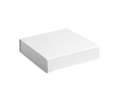 Gift Box DeLuxe; luxe geschenkdoos mat gelamineerd, WIT 15x15x5cm, verpakt per 50 stuks.