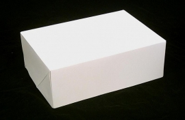 Gift Box GLOSSY 20x14x7cm, WIT, verpakt per 100 stuks