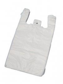 Hemddraagtassen, wit, formaat 27x6x48cm, verpakt per 2.000 stuks