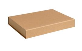 Gift Box DeLuxe; luxe geschenkdoos ONGELAMINEERD, BRUIN 22x16x2,2cm, A5, verpakt per 25 stuks