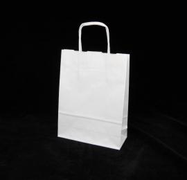 Paper Toptwist formaat 18x7x24cm, wit effen, per 250 stuks.