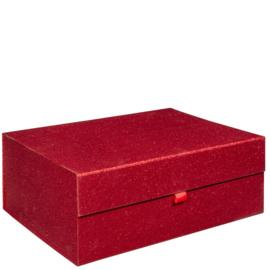 Magneetdoos glitter, 40x30x15cm, verpakt per 10 stuks. ROOD