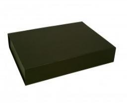 Gift Box DeLuxe; luxe geschenkdoos mat gelamineerd, ZWART 38x27x7cm, verpakt per 25 stuks