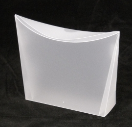 Colorz / small; 13,5x4x13,5cm, FROSTED WHITE, verpakt per 100 stuks.