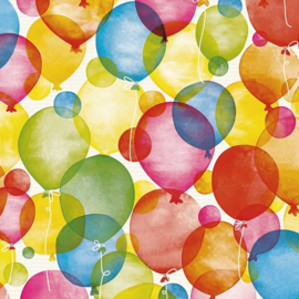 Inpakpapier  kraft, 501660/1-50 Watercolour Balloons