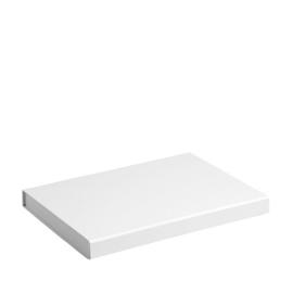 Gift Box DeLuxe; luxe geschenkdoos mat gelamineerd, WIT 31x22x2,5cm, A4, verpakt per 25 stuks.