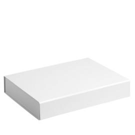 Gift Box DeLuxe; luxe geschenkdoos mat gelamineerd, WIT 38x27x7cm, verpakt per 25 stuks