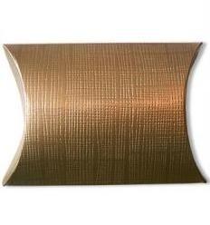 Metal Pillow, formaat small; 7x7x2,5cm, GOLD, verpakt per 200 stuks.
