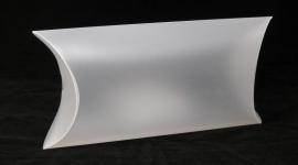 Pillow-Pack, small, 27x05x15 cm, FROSTED WHITE,  verpakt per 100 stuks.