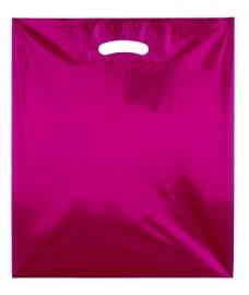 Kunststof draagtas colourline, uitgestanste handgreep formaat 38x45cm, rood, verpakt per 500 stuks.
