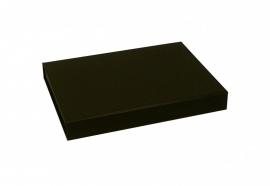 Gift Box DeLuxe; luxe geschenkdoos mat gelamineerd, ZWART 22x16x2,5cm, A5, verpakt per 25 stuks