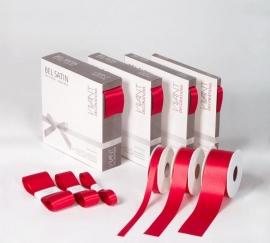 Satijnlint, BEL SATIN, lintbreedte 15mm, verpakt per rol, diverse kleuren leverbaar.