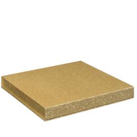 Magneetdoos glitter, 25x25x2,5cm, verpakt per 20 stuks. GOUD