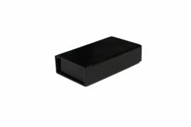 Magneetdoos glans gelamineerd, 12x7x3cm, verpakt per 50 stuks, zwart.