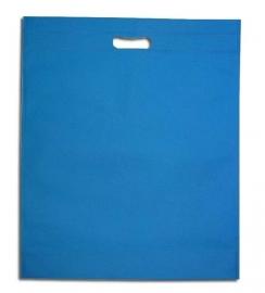 Non Woven draagtas met uitgestanste handgreep formaat 35x45+5cm, aqua, verpakt per 250 stuks