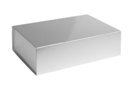 Magneetdoos glans gelamineerd, 34,5x25x10cm, verpakt per 25 stuks. Rood, zilver of goud.