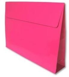 Trendy Envelopes glansgeplastificeerd, HOTPINK  Medium 30x6x22cm+7cm,  verpakt per 100 stuks
