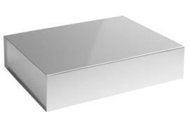 Magneetdoos glans gelamineerd, 42,5x33,3x9,7cm, verpakt per 25 stuks. Rood, zilver of goud.