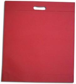Non Woven draagtas met uitgestanste handgreep formaat 40x45+5cm, hotpink, verpakt per 250 stuks